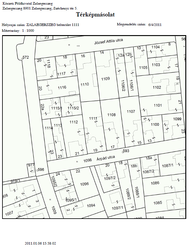 helyrajzi szám térkép Földhivatal Online felhasználói kézikönyv   Helyrajzi szám